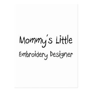Mommys poco diseñador del bordado tarjetas postales
