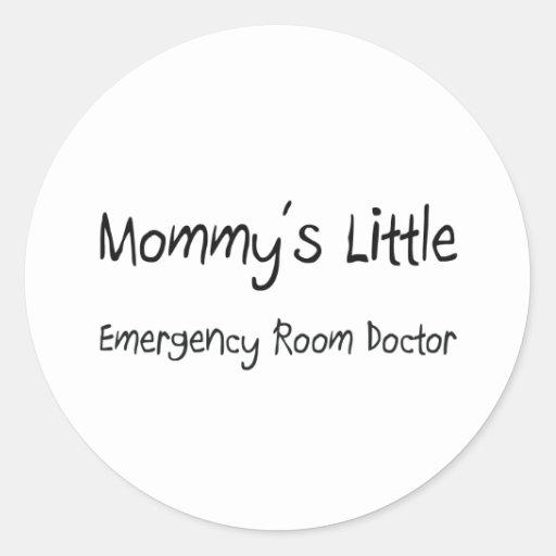 Mommys poco doctor de la sala de urgencias pegatinas redondas
