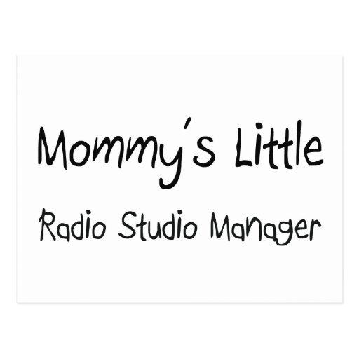 Mommys poco encargado de radio del estudio tarjeta postal