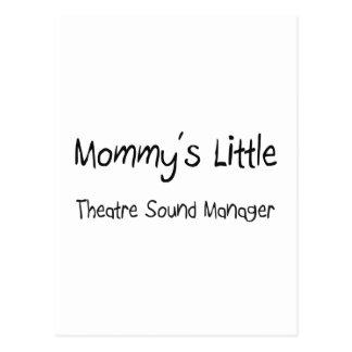 Mommys poco encargado del sonido del teatro postal