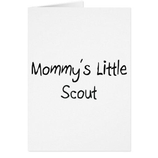 Mommys poco explorador tarjeta de felicitación