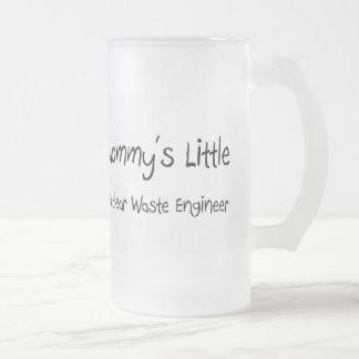 Mommys poco ingeniero de la basura nuclear taza de café