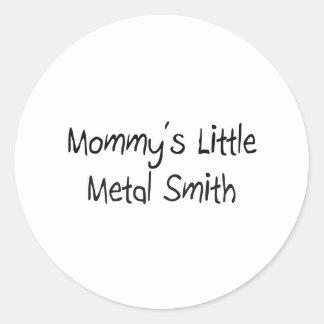 Mommys poco metal Smith Pegatina Redonda