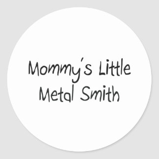 Mommys poco metal Smith Pegatina Redonda