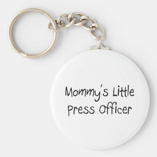 Mommys poco oficial de la prensa llavero redondo tipo pin