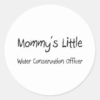 Mommys poco oficial de la protección de agua pegatina