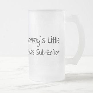 Mommys poco redactor de la prensa taza cristal mate