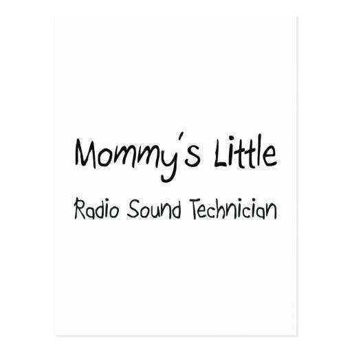 Mommys poco técnico sano de radio postales