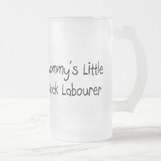 Mommys poco trabajador de muelle taza de café