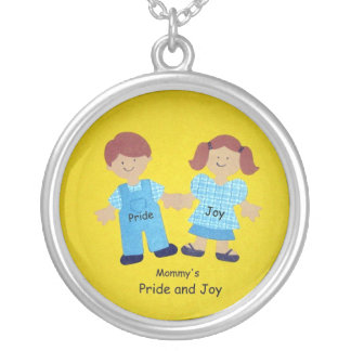 Mommy's Pride and Joy Silver Plated Necklace