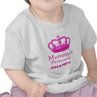 Mommy's Princess with Pink Crown V24B Tee Shirt
