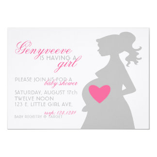 MOMMY'S SHADOW Baby Shower Invitation