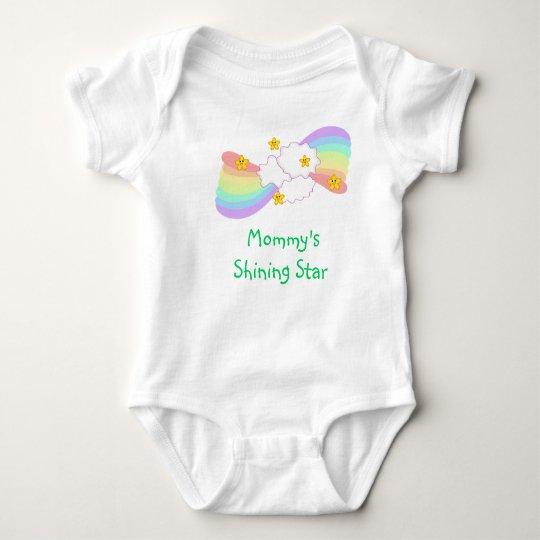 Mommy's shining star baby bodysuit