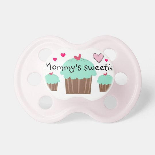 """""""Mommy's Sweetie"""" Cupcake Pacifier"""