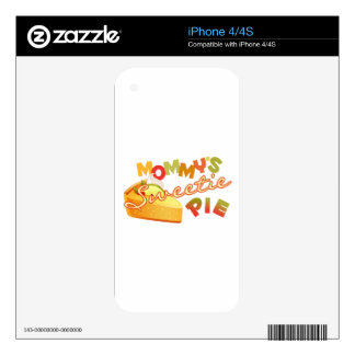Mommy's Sweetie Pie Skin For iPhone 4S