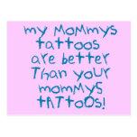 Mommys Tattoos Rock! Postcard
