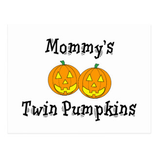 Mommy's Twin Pumpkins Postcard