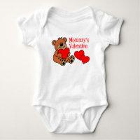 Mommy's Valentine Baby Bodysuit
