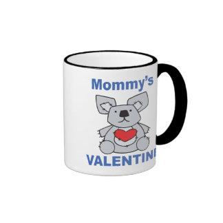 Mommy's Valentine Ringer Mug
