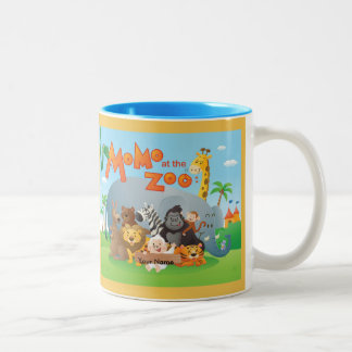 Momo At The Zoo Two-Tone Coffee Mug