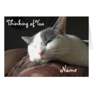 Momo Cat Greeting Card Customizable Template