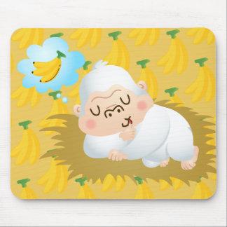 Momo Dreaming of Banana Mouse Pad