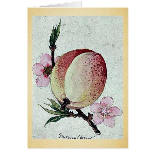 Momo (peach) Ukiyo-e. Greeting Cards