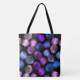 Momona Hawaiian Tropical Pineapple Beach Bag Tote Bag