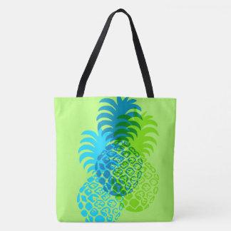 Momona Pineapple Hawaiian Reversible Beach Bag Tote Bag