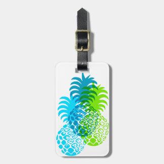 Momona Pineapple Hawaiian Tropical Luggage Tag
