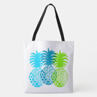 Momona Pineapple Tropical Trio Hawaiian Beach Bag Tote Bag