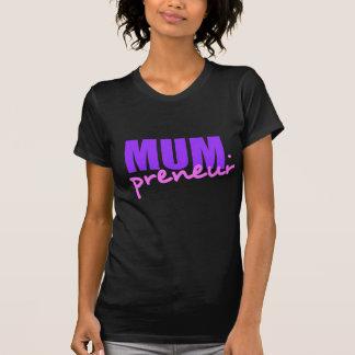 Mompreneur con el guión del punto dos colores do camiseta