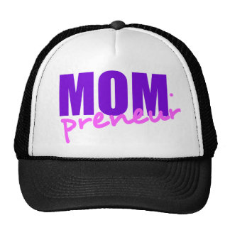 Mompreneur With Dot Hyphen, Two Colors Trucker Hats