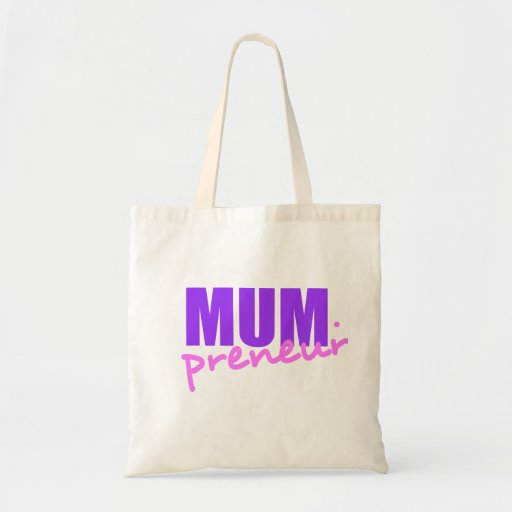 Mompreneur With Dot Hyphen, Two Colors, Two Fonts Bag