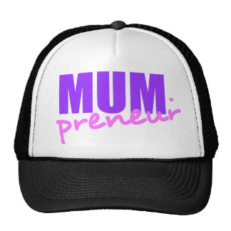 Mompreneur With Dot Hyphen, Two Colors, Two Fonts Trucker Hat