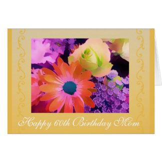 Mom's 60th birthday roses card