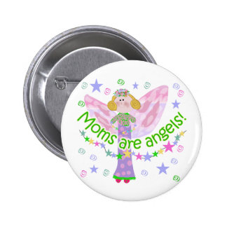 Moms Are Angels Pins