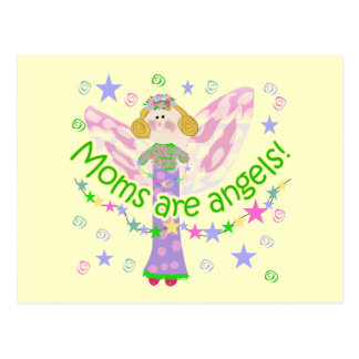 Moms Are Angels T-shirts and Gifts Postcard