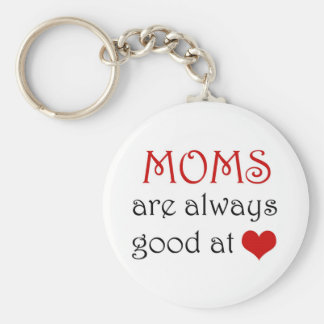 Moms are good at heart - Keychain
