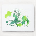 Moms are not angels - let me check the facebook! mouse pad