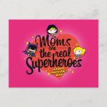 Moms Are The Real Superheroes Invitation Postcard