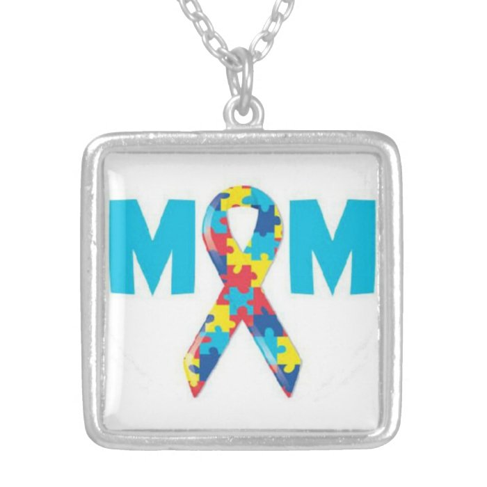 Mom's Autism Awareness Necklace
