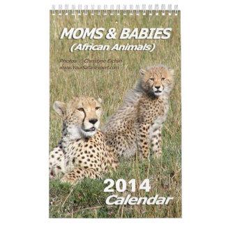 Moms & Babies African Animals Calendar 2014 1-Pg.