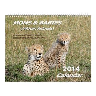 Moms & Babies African Animals Calendar 2014 2-Pg.