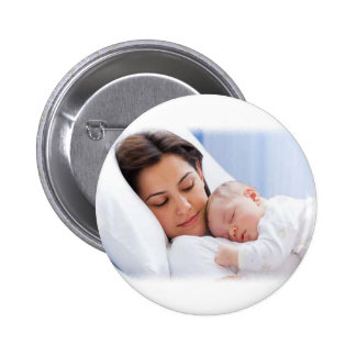 Mom's Baby Bliss Pinback Button
