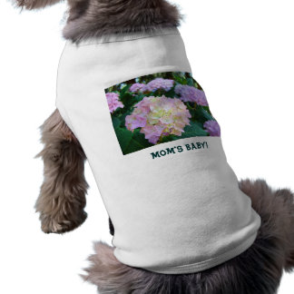 Mom's Baby! Dog shirts Green Garden Pink Flowers Pet Tee Shirt