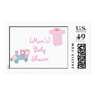 (Mom's) Baby Shower Postage Stamp