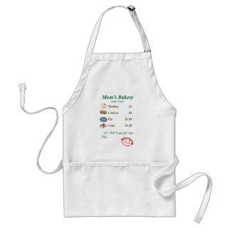 Mom's Bakery Menu Apron