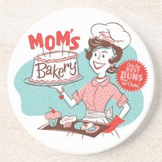 Mom's Bakery Retro Coaster
