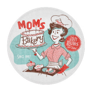 Mom's Bakery Retro Cutting Board (CUSTOMIZABLE)